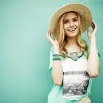 Ginny Gardner modelling with hat