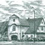 Zajazd pocztowy z pocz. XIX w. rekonstrukcja J. Uhlik