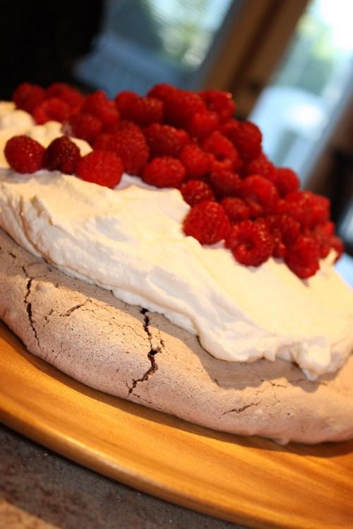 Chocolate Raspberry Pavlova | bsinthekitchen.com