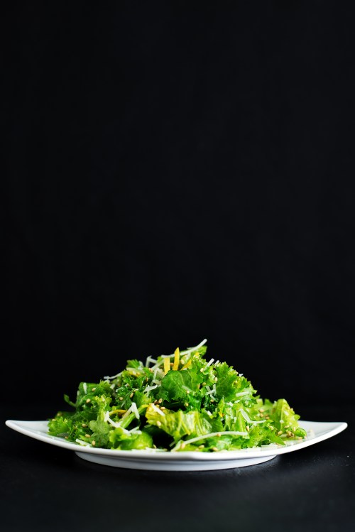 Mustard Greens Salad | bsinthekitchen.com #salad #dinner #bsinthekitchen