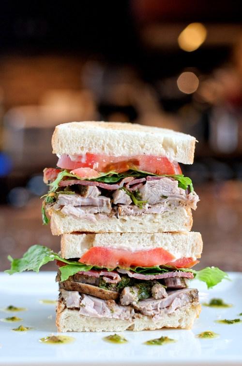 Pork & Salsa Verde Sandwich | bsinthekitchen.com #sandwich #leftovers #bsinthekitchen