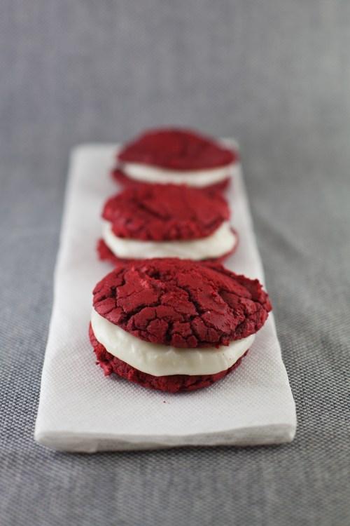 Red Velvet Whoopie Pies | bsinthekitchen.com #redvelvet #dessert #bsinthekitchen