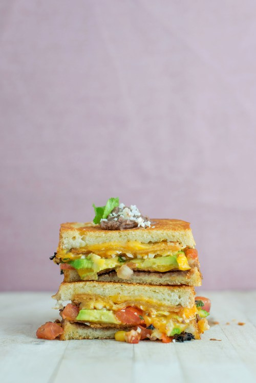 The Mexican Grilled Cheese | bsinthekitchen.com #grilledcheese #sandwich #bsinthekitchen