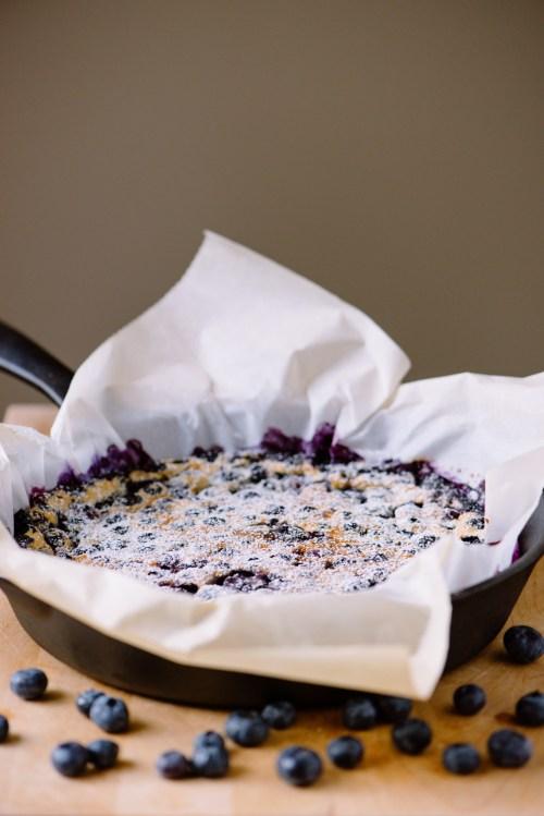 Blueberry Clafoutis | bsinthekitchen.com #dessert #blueberry #bsinthekitchen