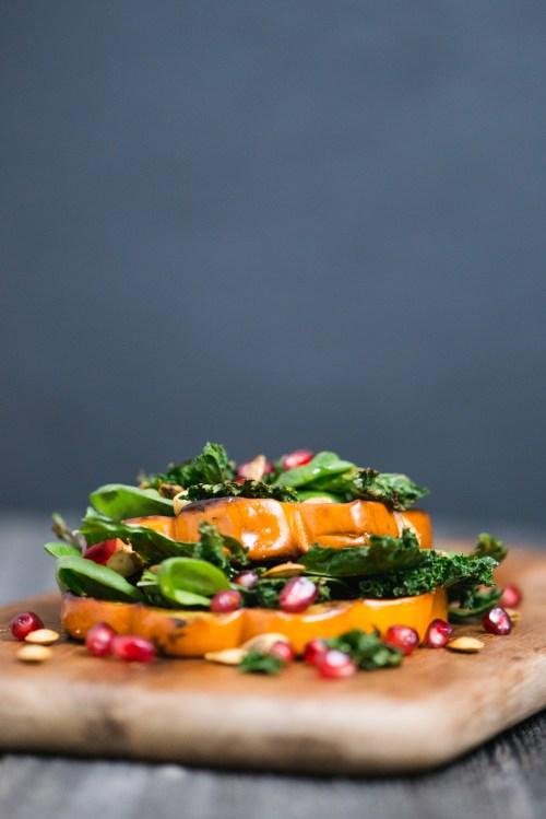 Winter Squash Salad | bsinthekitchen.com #salad #squash #bsinthekitchen