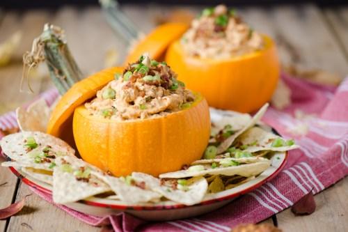 Caramelized Onion, Bacon & Pumpkin Dip | bsinthekitchen.com #pumpkin #appetizer #bsinthekitchen