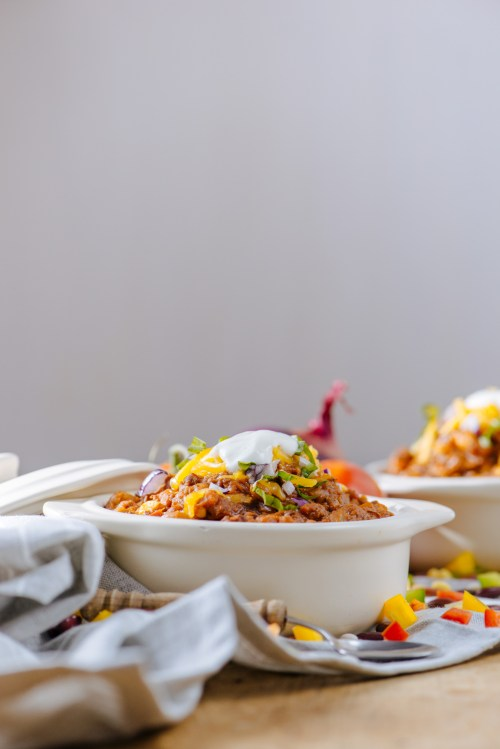 Slow Cooker Chili | bsinthekitchen.com #slowcooker #chili #bsinthekitchen