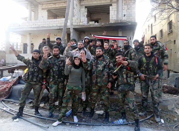 Photos of Syria Arab Army and NDF inside the town of Salma northeast of Latakia