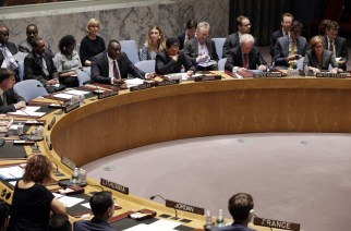 Urgent business: the UN Security Council discusses Gaza and the downing of flight MH17. EPA/Jason Szenes