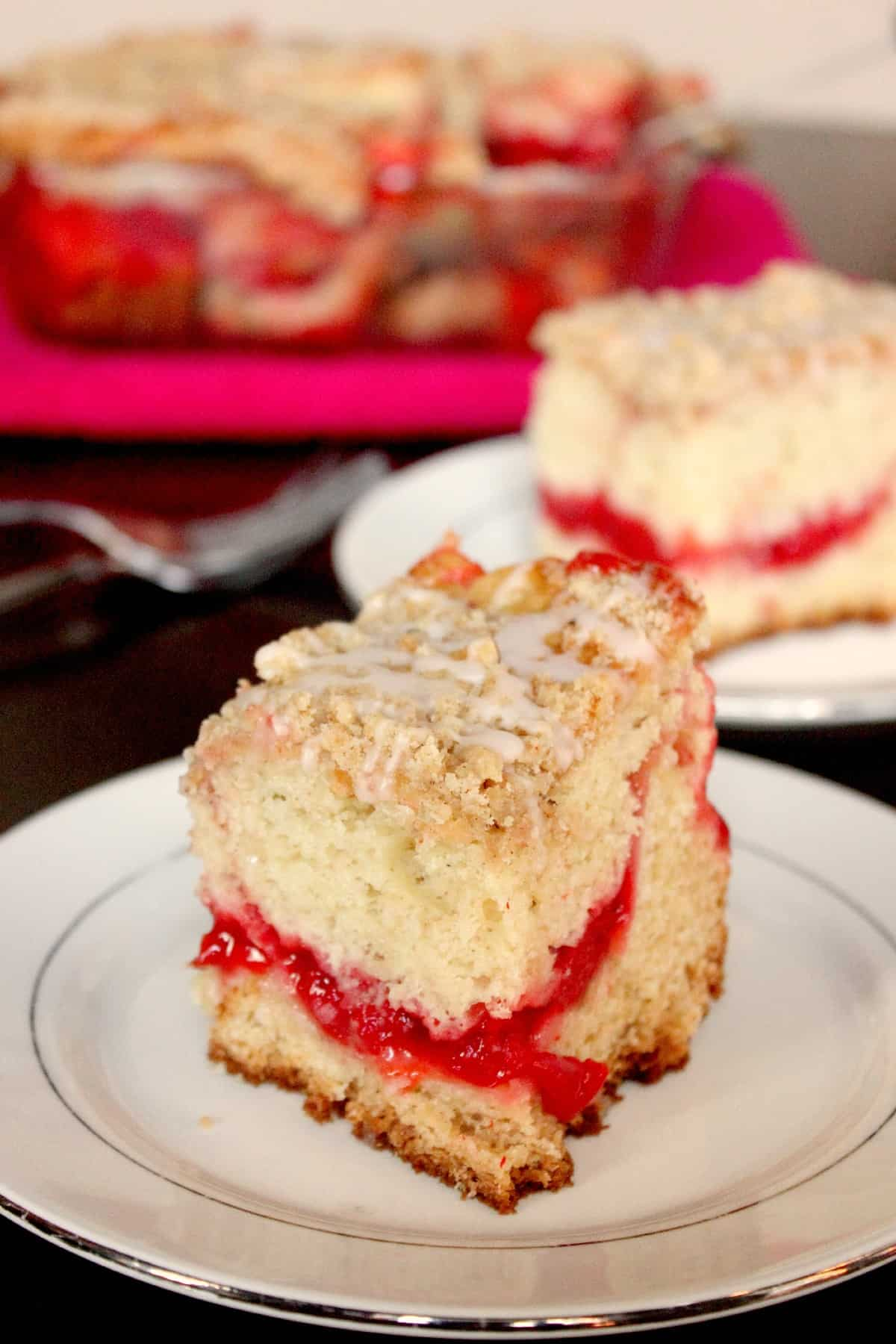 Cherry Almond Coffee Crumb Cake