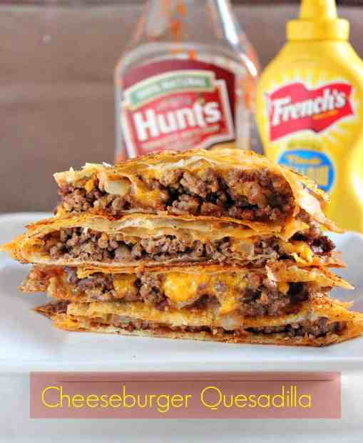 Cheeseburger Quesadillas