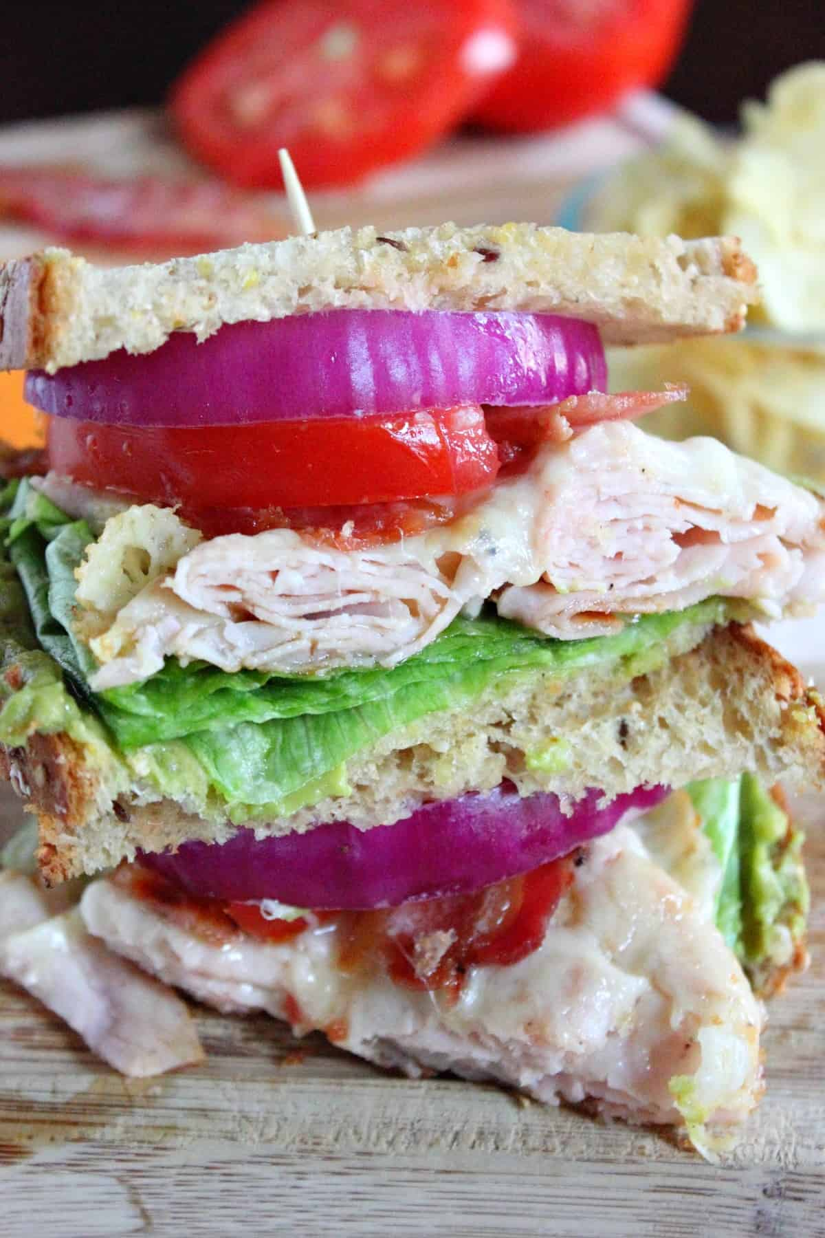 Turkey Club Melt Sandwich