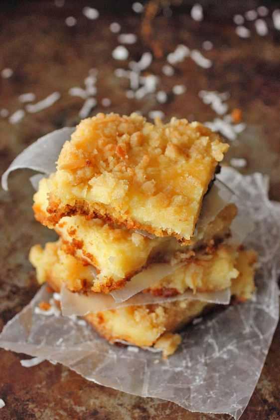 Lemon Coconut Gooey Butter Bars | Brown Sugar