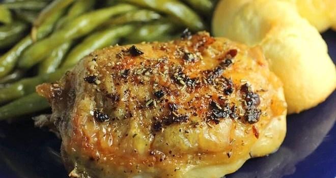 Garlic & Rosemary Pan Roasted Chicken