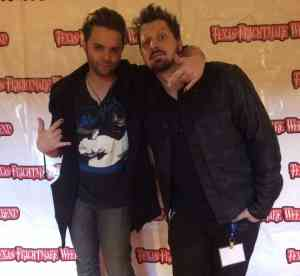 Rob Hall and Thomas Dekker at Texas Frightmare