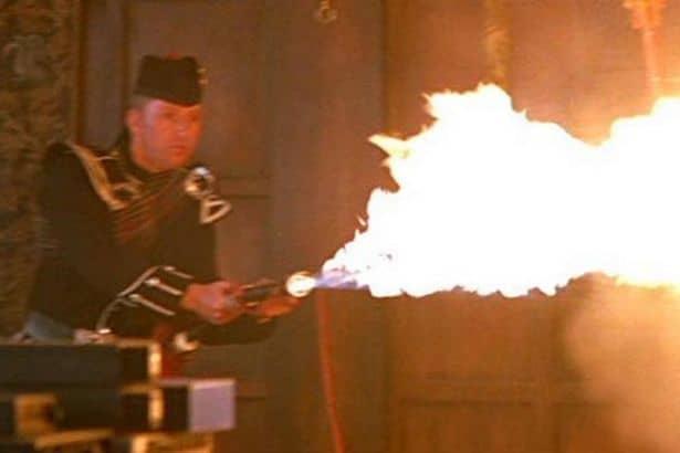 Bagpipe flamethrower