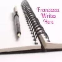 Francesca writes here blog badge