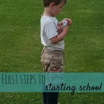 First steps to starting school