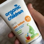 Green People children's sun lotion for summer