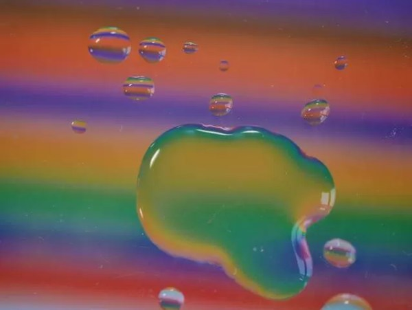 My Sunday Photo - water refraction colours