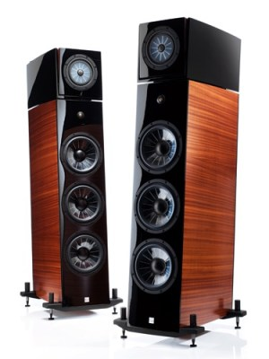 high end home audio speakers with multiple woofers