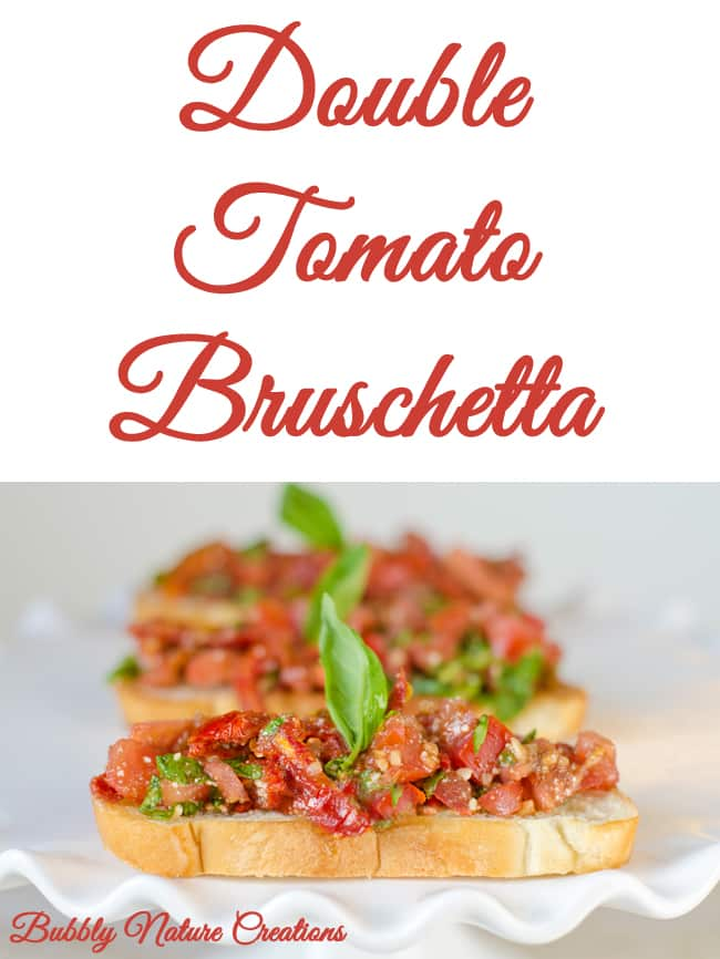 Double Tomato Bruschetta - Sprinkle Some Fun