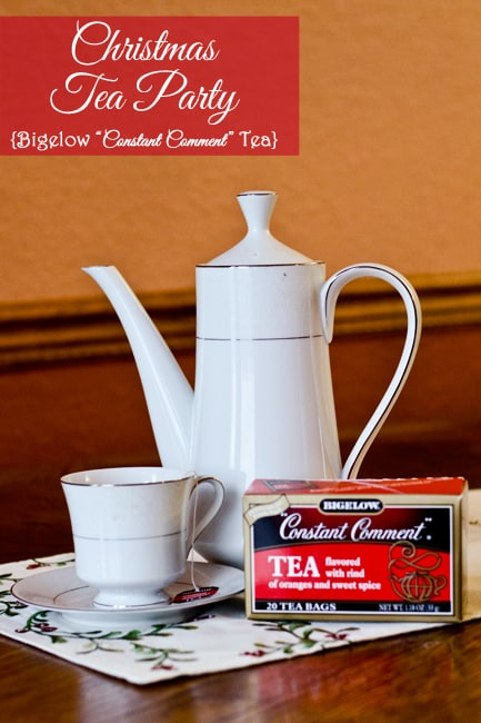 Christmas Tea Party with Bigelow Constant Comment Tea