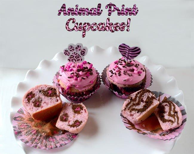 Animal Print Cupcakes!