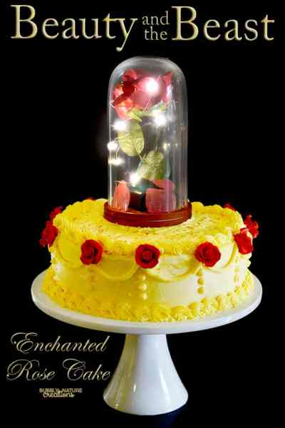 Beauty and the Beast Enchanted Rose Cake Tutorial