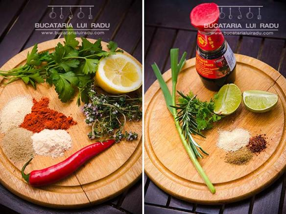 ingrediente pentru pulpe marinate