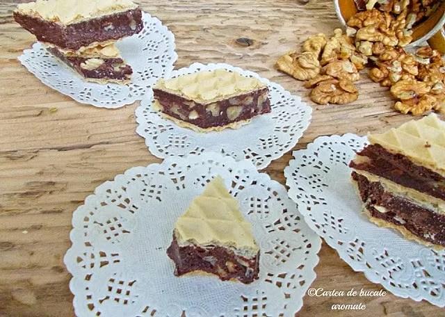 Ciocolată de casă în foi de napolitană