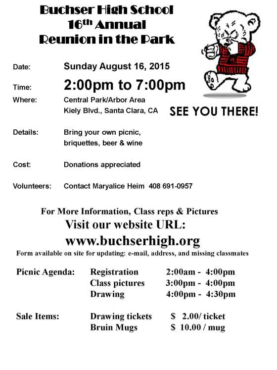 2015 Annual Picnic flyer