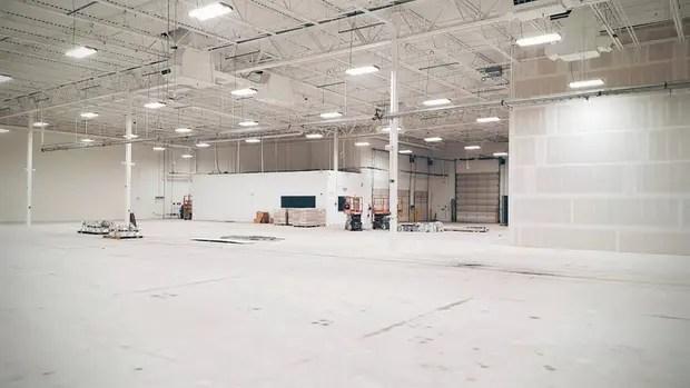 Una vista del centro de desarrollo de vehículos autónomos de Google en Detroit