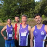 Alex, Wolfgang, Jon and Matt forming one of the men's relay teams