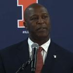 Lovie Smith, new coach of Illinois, breaks silence on Tampa firing him.