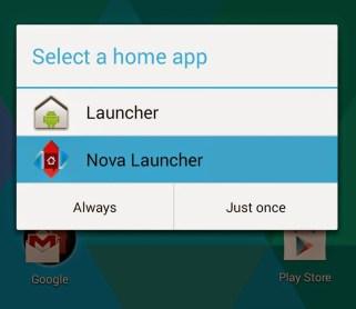 default app nova