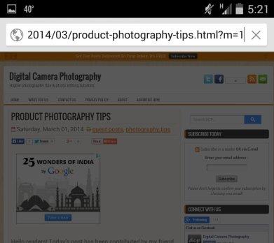 Blogger mobile URL