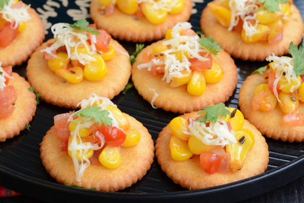 Cheese Corn Biscuit Canapes - 5 On the Go Recipes for Hostelite