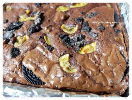 Mar 9- Oreo Banana Brownie baked