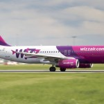 PRAGUE, CZECH REPUBLIC - MAY 13: Wizz Air Airbus A321-211 lands at PRG Airport on May 13, 2015. Wizz Air is a Hungarian low-cost airline.