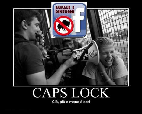 Caps Lock.............perche NON usarlo.