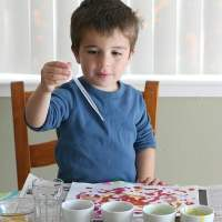 Watercolor Art for Kids Using Felt