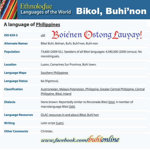 Boie'nen Language ETHNOLOGUE