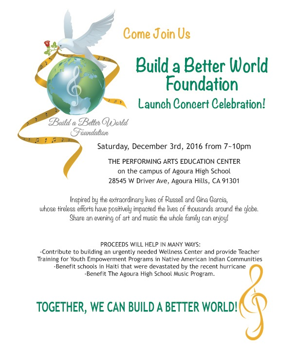 Build A Better World Foundation Event Flyer