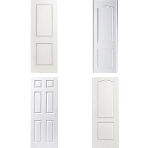 Doors 18 18 in x 80 in colonist white painted left for 18 six panel door