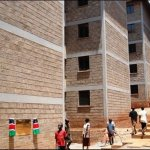 The recently constructed apartments in Soweto Kibera which are part of the Slum Upgrading Project