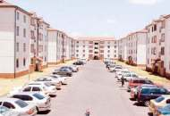 Nyayo Estate in Embakasi, one of the largest housing estates in Kenya with over 5000 houses which look exactly the same.