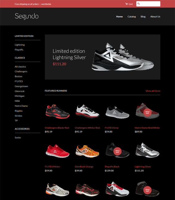 classic shoe footwear shopify themes