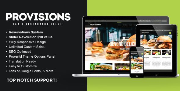 WP Provisions Restaurant by Contempoinc (WordPress theme)