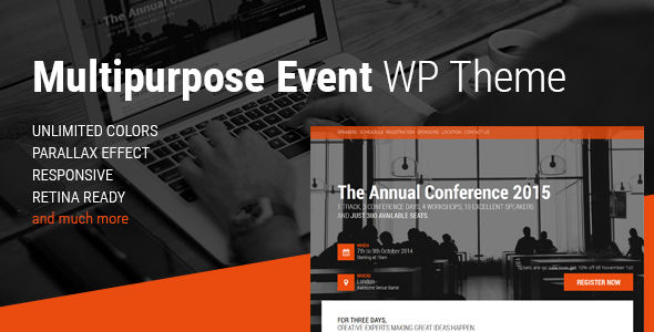 Event by Magethemes (event & conference WordPress theme)
